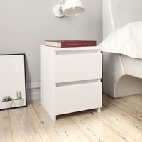 Zqyrlar - Bedside Cabinet White 30x30x40 cm Chipboard - White