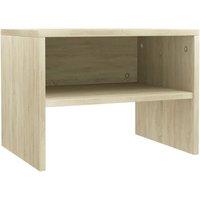 vidaXL Bedside Cabinet 40x30x30 cm Chipboard Sonoma Oak - Brown