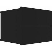 Bedside Cabinet 40x30x30 cm Chipboard Black - Black - Vidaxl