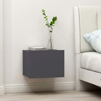 Bedside Cabinet 40x30x30 cm Chipboard Grey - Grey - Vidaxl