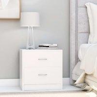 Bedside Cabinet White 40x30x40 cm Chipboard - White