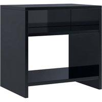 Bedside Cabinet 40x30x40 cm Chipboard High Gloss Black - Black - Vidaxl