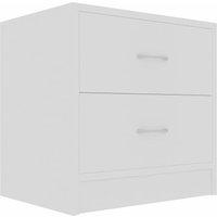 Bedside Cabinet 40x30x40 cm Chipboard White - White - Vidaxl
