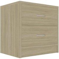Bedside Cabinet 40x30x40 cm Chipboard Sonoma Oak - Brown - Vidaxl