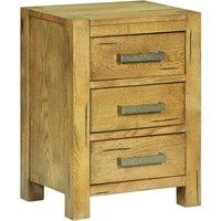 Bedside Cabinet with 3 Drawers 40x30x54 cm Rustic Oak Wood - VIDAXL