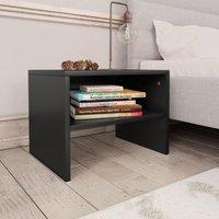Bedside Cabinets 2 pcs Black 40x30x30 cm Chipboard