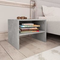 Bedside Cabinets 2 pcs Concrete Grey 40x30x30 cm Chipboard