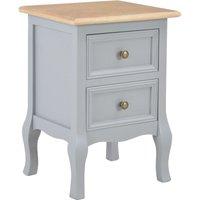 Bedside Cabinets Grey 35x30x49 cm MDF