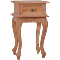 Bedside Table 35x30x60 cm Solid Mahogany Wood - VIDAXL