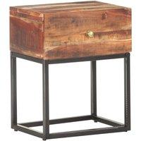 Bedside Table 40x30x50 cm Rough Acacia Wood - Brown - Vidaxl
