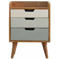 Bedside with Green Hand Painted Cut Out Drawers