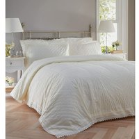 Bedspread Balmoral Broderie Anglaise Quilted Throw Throwover Set Cream
