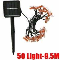 Bee Solar Party Fairy Outdoor String Lights Patio Garden Warm Amber 50 Light-9.5M
