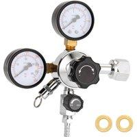 Beer Keg CO2 Regulator Safety Pressure Relief Valve 0-3000 PSI Tanks Pressure Adjustable
