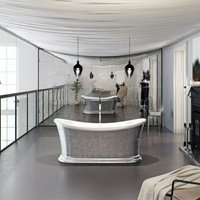Charlet metallic effect freestanding bath - Belle De Louvain