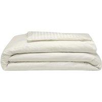 540 Thread Count Satin Stripe Duvet Cover Set (Kingsize) (Ivory) - Belledorm
