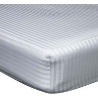 540 Thread Count Satin Stripe Extra Deep Fitted Sheet (Kingsize) (Platinum) - Belledorm