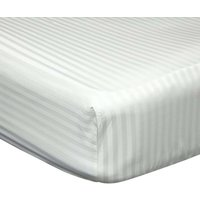 540 Thread Count Satin Stripe Extra Deep Fitted Sheet (Kingsize) (Ivory) - Belledorm