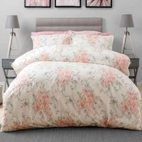 Amour Duvet Cover Set (Single) (Blush) - Belledorm