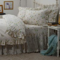 Bluebell Meadow Fitted Valance (Single) (Ivory) - Belledorm