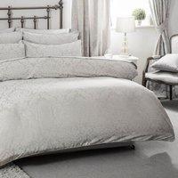 Bromley Duvet Cover Set (Double) (Grey) - Belledorm