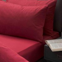 Brushed Cotton Extra Deep Fitted Sheet (Single) (Red) - Belledorm