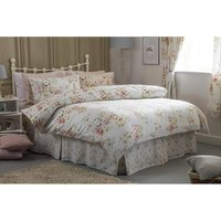 Cherry Blossom Fitted Valance (Single) (Ivory) - Belledorm