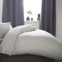 Cotton Sateen 1000 Thread Count Duvet Cover (Kingsize) (Platinum) - Belledorm