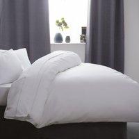 Cotton Sateen 1000 Thread Count Duvet Cover (Kingsize) (White) - Belledorm