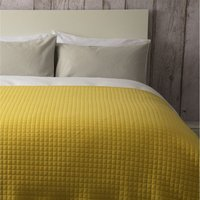 Crompton Quilted Throw (One Size) (Saffron Yellow) - Belledorm