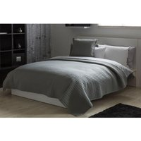 Crompton Quilted Throw (One Size) (Grey) - Belledorm