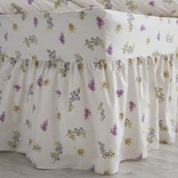 Belledorm Delphine Fitted Valance (Double) (White)
