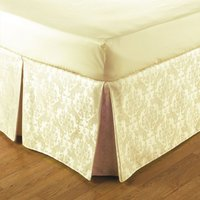 Belledorm Easy Fit Damask Platform Valance (Double) (Cream) - JANSONS DIRECT LINENS