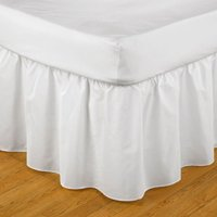 Belledorm Easy Fit Frilled Platform Valance (Superking) (White)