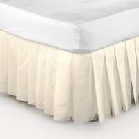 Belledorm Easy Fit Knife Pleated Platform Valance (Kingsize) (Cream)