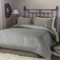Belledorm Felicity Duvet Cover Set (Double) (Charcoal)