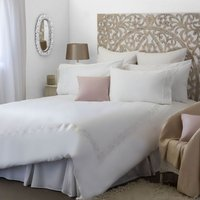 Belledorm Felicity Duvet Cover Set (Double) (White)