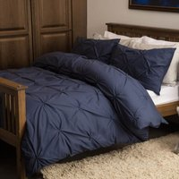 Harlow Duvet Cover Set (Single) (Navy) - Belledorm