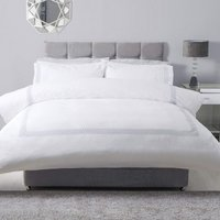 Honeycomb Duvet Set (Single) (White/Grey) - Belledorm