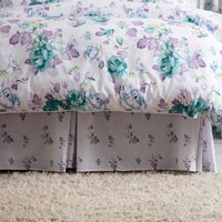 Belledorm Melody Fitted Valance (Kingsize) (White/Purple/Green)