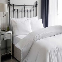 Belledorm Phoebe Polycotton Duvet Cover Set (Double) (White)