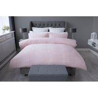 Belledorm Union Square Duvet Cover Set (Double) (Blush Pink)