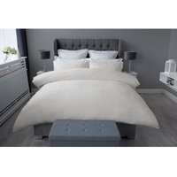 Union Square Duvet Cover Set (King) (Ivory) - Belledorm
