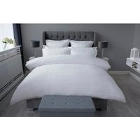 Union Square Duvet Cover Set (King) (White) - Belledorm