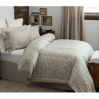 Waltham Duvet Cover Set (Single) (Beige) - Belledorm