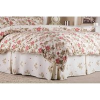 Wild Rose Fitted Valance (Double) (Ivory) - Belledorm