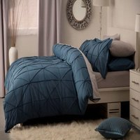 Winsford Duvet Cover Set (Single) (Cobalt) - Belledorm