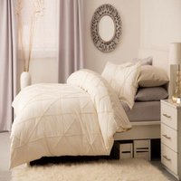 Winsford Duvet Cover Set (Single) (Ivory) - Belledorm
