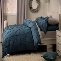 Winsford Duvet Cover Set (Kingsize) (Cobalt) - Belledorm