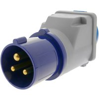 BeMatik - Industrial outlet Adaptor CEE plug male to SCHUKO female socket 2P+T 16A 250V IP44 IEC-60309